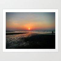 Sunset over Mindil Beach, Darwin. Art Print