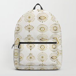 Evil Eyes – Gold Palette Backpack