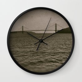 Golden Gate From The Sea (wetplate) Wall Clock