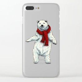 The polar bears wish you a Merry Christmas Clear iPhone Case