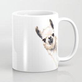 Sneaky Llama White Coffee Mug