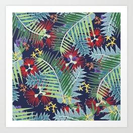 Tropical NZ Art Print