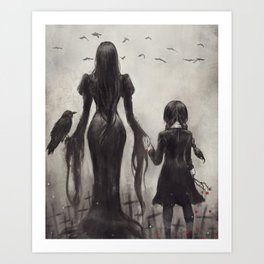 Wednesday's Graveyard Art Print