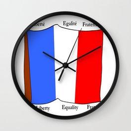 Flag of France III- France, Français,française, French,romantic,love,gastronomy Wall Clock