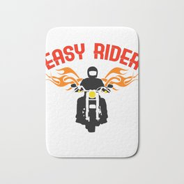 """""""Easy Rider"""" tee design for both cars and motorcycle riders out there! Makes a nice gift too!  Bath Mat"""