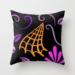 Halloween Nights Created By Kat Co Throw Pillow
