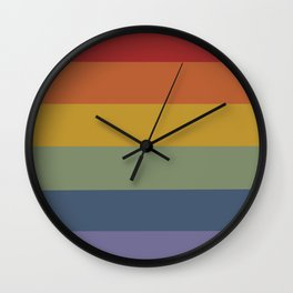 Pretty Rainbow Baby Wall Clock