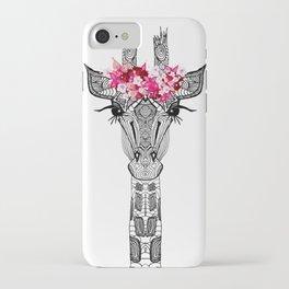 FLOWER GIRL GIRAFFE iPhone Case