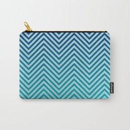 Sea Kiss Blue Chevron Wave Carry-All Pouch