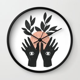 of her, of earth Wall Clock