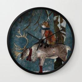 Winter Tale Wall Clock