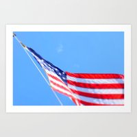 flag Art Prints featuring flag by Dottie