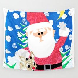 Santa and Rudolph Wall Tapestry