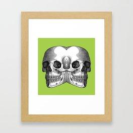 Double Trouble / GREEN Framed Art Print