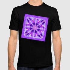 Bay Kaleidoscope in Purples Mens Fitted Tee MEDIUM Black
