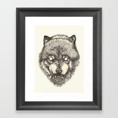 Day wolf Framed Art Print