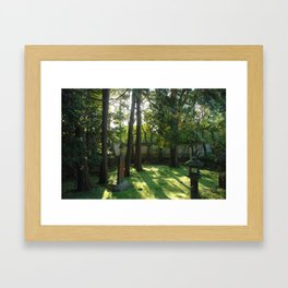 Temple Grounds in Kyoto, Japan Framed Art Print