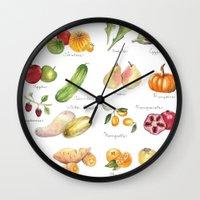 calendar Wall Clocks featuring Calendar July-Dec by Brooke Weeber