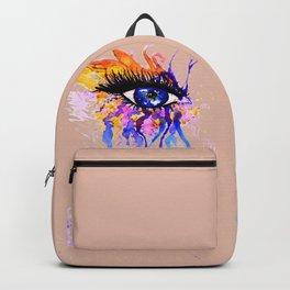 Flamy Watercolor Eye Backpack