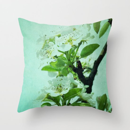 under the pear tree Throw Pillow