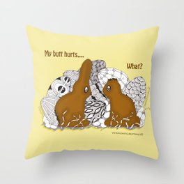 Chocolate Easter Bunny Problems Children Illustrations Throw Pillow