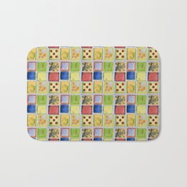 Nine Squares Showing Off Bath Mat