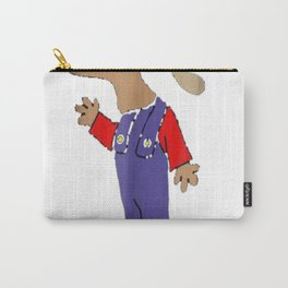 SmileteesFunny Funny Super Moose in Overalls T-shirt Carry-All Pouch