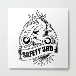 Safety 3rd Motobike Metal Print