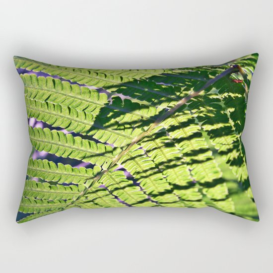 Summer Fern in Sunny Dreams Rectangular Pillow