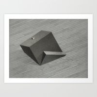 Reflected Cube Art Print