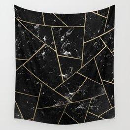 Black Marble Gold Geometric Glam #1 #geo #decor #art #society6 Wall Tapestry