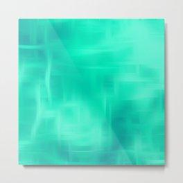 Aqua Texture Metal Print