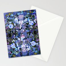 Blue Spot Floral Stationery Cards