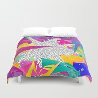 80s Duvet Covers featuring 80s Abstract by Danny Ivan