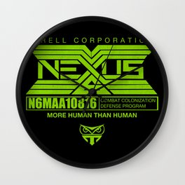 NEXUS 6 - more human than human Wall Clock