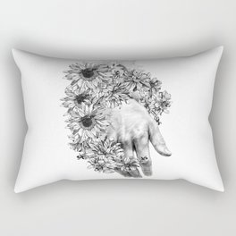 temporary design  hand with flowers Rectangular Pillow