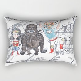 Candy Bandits Rectangular Pillow