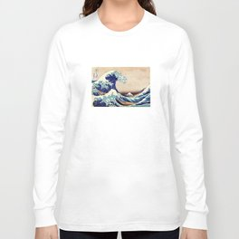 Katsushika Hokusai The Great Wave Off Kanagawa Long Sleeve T-shirt