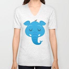 Sleepy Elephant Unisex V-Neck