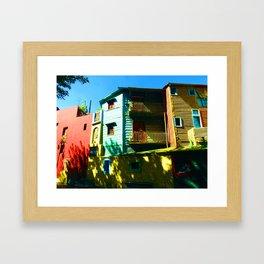 Mellow Yellow, La Boca, Buenos Aires Framed Art Print