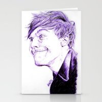 louis tomlinson Stationery Cards featuring Louis Tomlinson by Drawpassionn