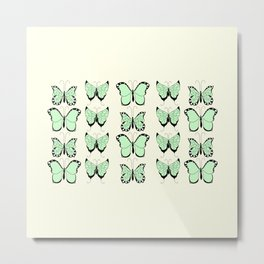 Jade butterflies Metal Print