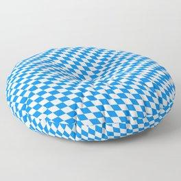 Bavarian Blue and White Diamond Flag Pattern Floor Pillow