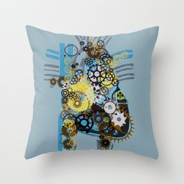 Cogs Of Your Heart Throw Pillow