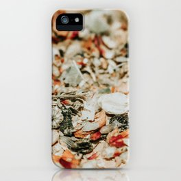 abstract herbal floral print iPhone Case