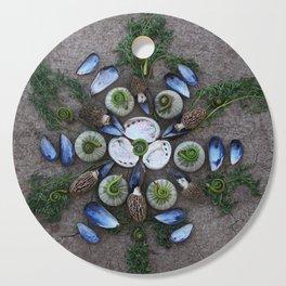 Nature Mandala: April Cutting Board