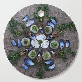 Nature Mandala: April Cutting Board