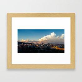 Clouds over Barcelona Framed Art Print