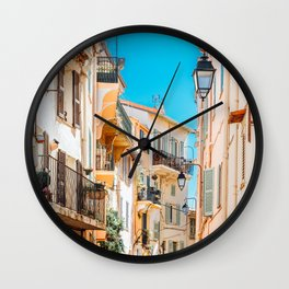 Cannes City Print, French Riviera Art, Travel Print, Architecture Print, Beautiful Urban Streets Of Cannes, Cote D'Azure, Downtown City Cannes, Wall Art Poster, Home Decor Print Wall Clock