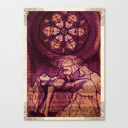 King Lear Shakespeare Folio Art Canvas Print